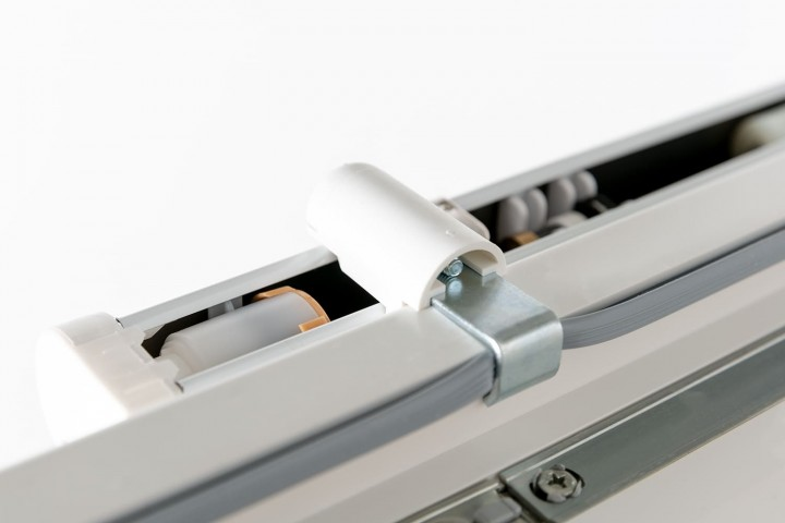 Aluminium Jalousie nach Maß für Türen, Farbe 2020 weiß matt