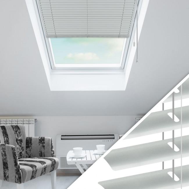 Aluminium Jalousie nach Maß für Dachfenster, Farbe 2008E aluminium grau