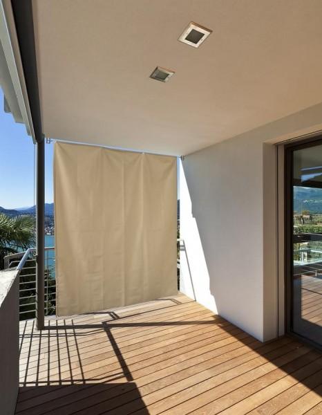 Vertikaler Sonnenschutz Terrassensicht Vorhang