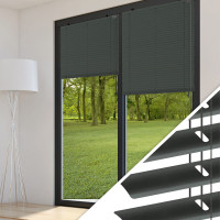 Aluminium Jalousie nach Maß für Türen, Farbe 2037 anthrazit DB703