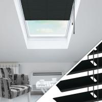 Aluminium Jalousie nach Maß für Dachfenster, Farbe 2011 anthrazit RAL7036