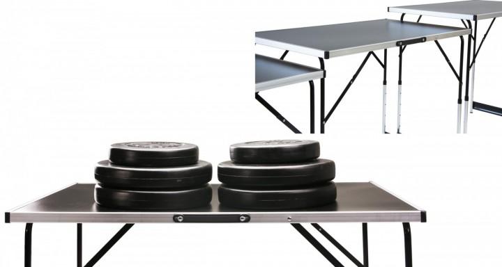 Tapeziertisch 3 teilig mit 50 kg Gewichte