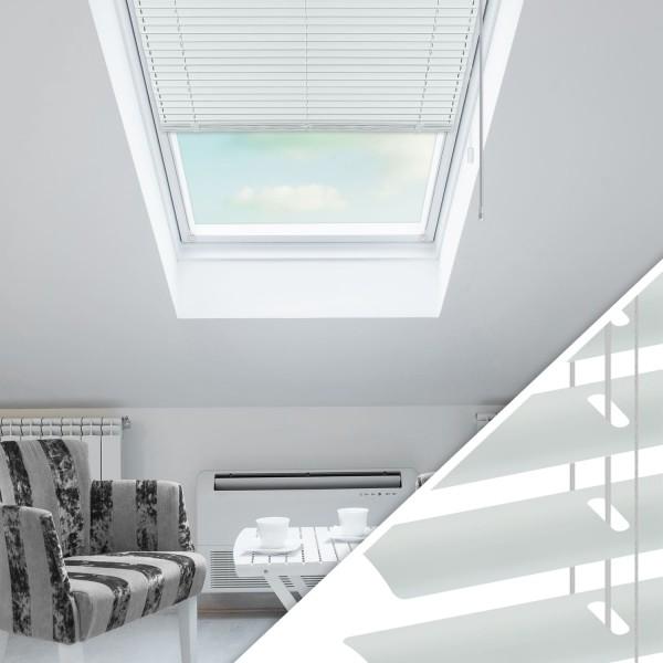 Aluminium Jalousie nach Maß für Dachfenster, Farbe 2020 weiß matt