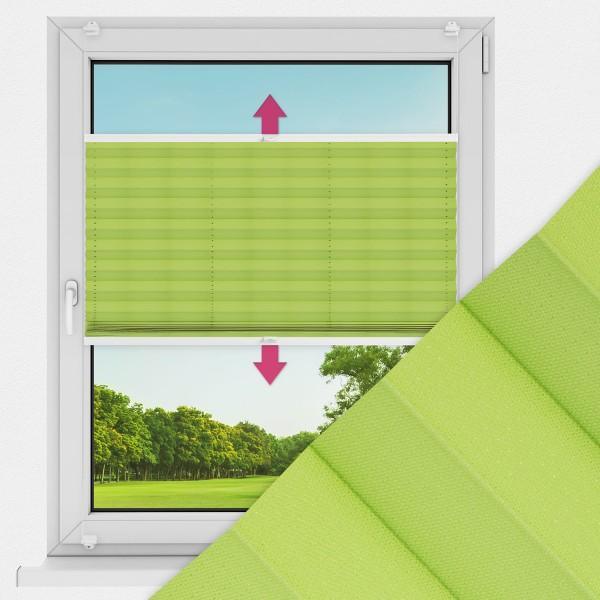 Plissee nach Maß für Fenster Farbe N715 Green Punch Ausführung VS2
