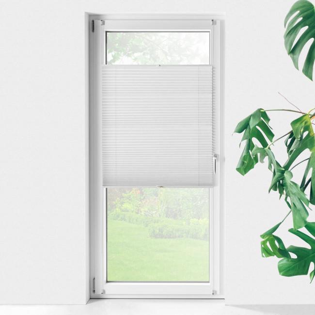 Sonnenschutz Plissee für Türen, kürzbar - dekorativ - ohne Bohren