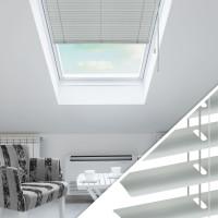 Aluminium Jalousie nach Maß für Dachfenster, Farbe 2007E silber