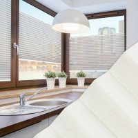 Plissee nach Maß für Fenster, Farbe N176 Snow White