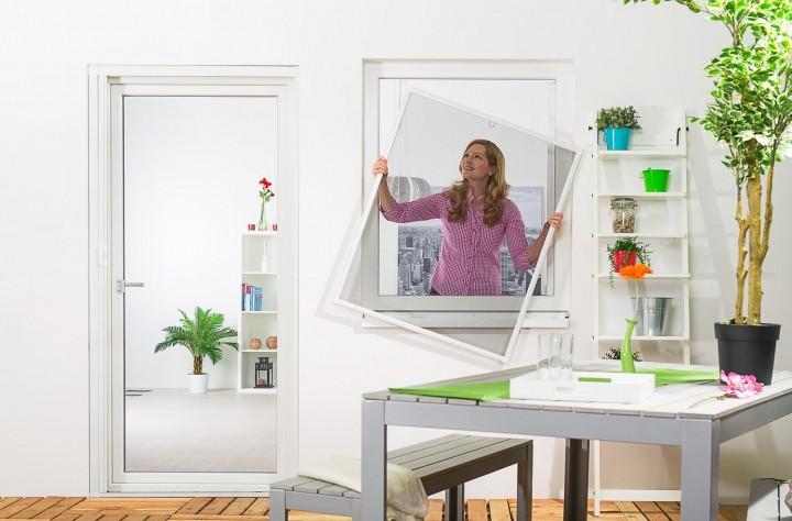 Fliegengitter Fenster Basic Ambiente weiß 1