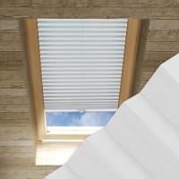 Plissee nach Maß für Dachfenster, Farbe N097 Nimbus Cloud