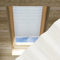 Plissee nach Maß für Dachfenster, Farbe N176 Snow White