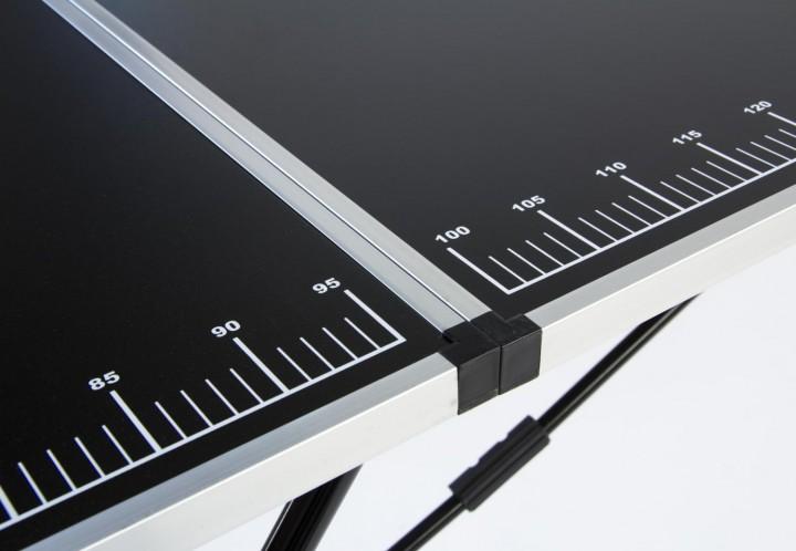 Tapeziertisch Stahl Messskala