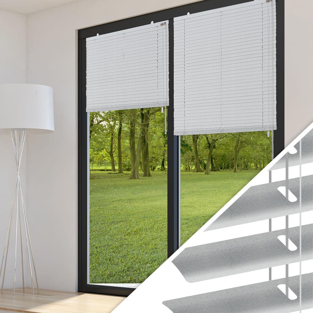 aluminium jalousie nach ma f r t ren farbe 2036 silber. Black Bedroom Furniture Sets. Home Design Ideas