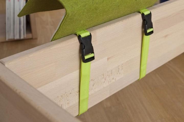 Bettablage Slappy grün Detail