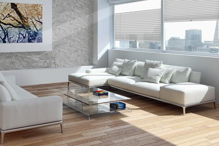 Plissee auf Maß für Fenster Ambiente Wohnzimmer VS2 Farbe N097