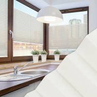 Plissee nach Maß für Fenster, Farbe N181 Ivory