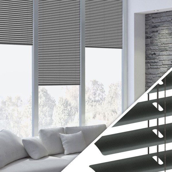 Beliebt Aluminium Jalousie nach Maß für Fenster, Farbe 2037 anthrazit NA38