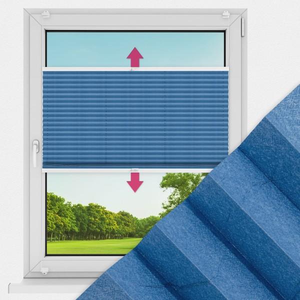 Plissee nach Maß für Fenster Farbe N031 Skydiver Ausführung VS2
