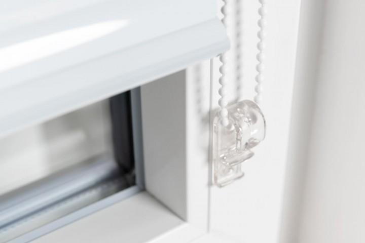Aluminium Jalousie nach Maß für Türen, Farbe 2001E reinweiß