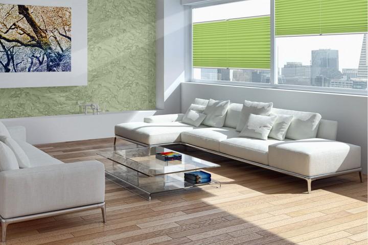 Plissee auf Maß für Fenster Ambiente Wohnzimmer VS2 Farbe N715